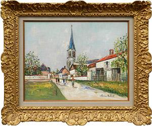ユトリロ ボワシエの教会