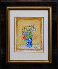 イタリアの花瓶の花束