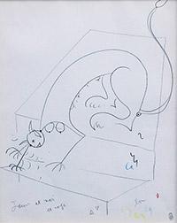 コクトー 頭を低く下げるスフィンクス