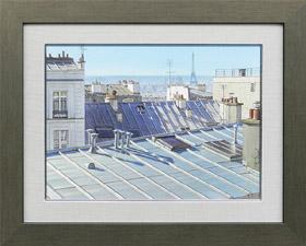 パリの屋根に射す夏の光