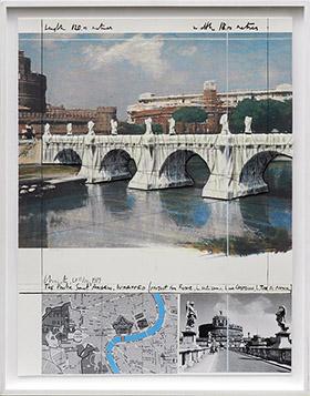 クリスト 包まれたサンタンジェロ橋、ローマ